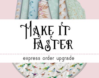 Express Order Upgrade for Orders of Cushion Covers, Cot Quilts or Play Mats