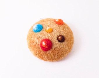 Needle Felted Ornament Cookie / Felt Food / Play Food / Felted Cookie