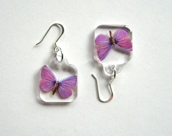 Butterfly Earrings - Enchanted Petites - purple, Summer earrings, small earrings, wings, flutter, Nature inspired, butterfly lover, gift