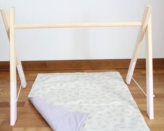 Baby wooden gym / Activity center / Nursery decor