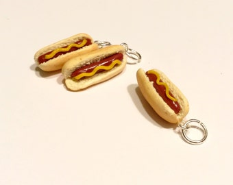 Miniature Hotdog - Polymer Clay Charm