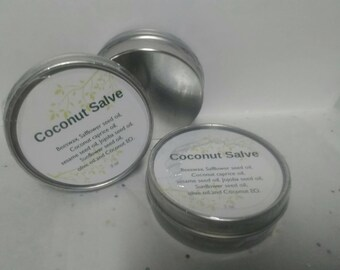 """All Natural Hand made """"Coconut Salve"""" for soothing healing Skin"""