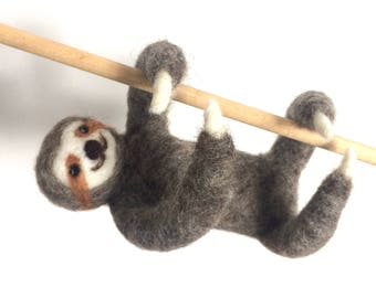Sloth Needle Felted Handmade made to order