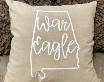 Customized Linen Throw Pillow Cover