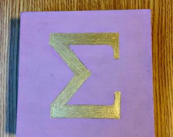 Greek Letter Sorority Canvas Set // Custom