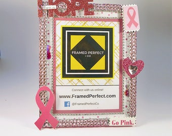 Breast Cancer Awareness Fight for a Cure Picture Frame: Gift for Survivor, Fundraiser or to Show Support