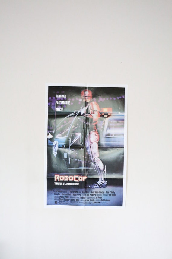 Original Theatrical One Sheet Film Poster - Robocop Directed by Paul Verhoeven