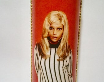 Nancy Sinatra red and black candle