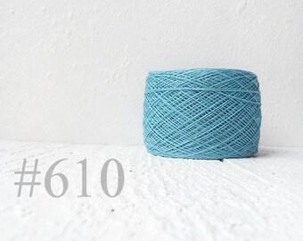 Sky blue linen crochet thread - laceweight yarn #610