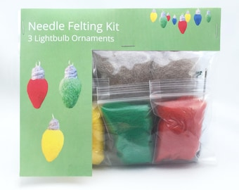 Make Your Own Christmas Lightbulb Ornaments Kit - makes 3.