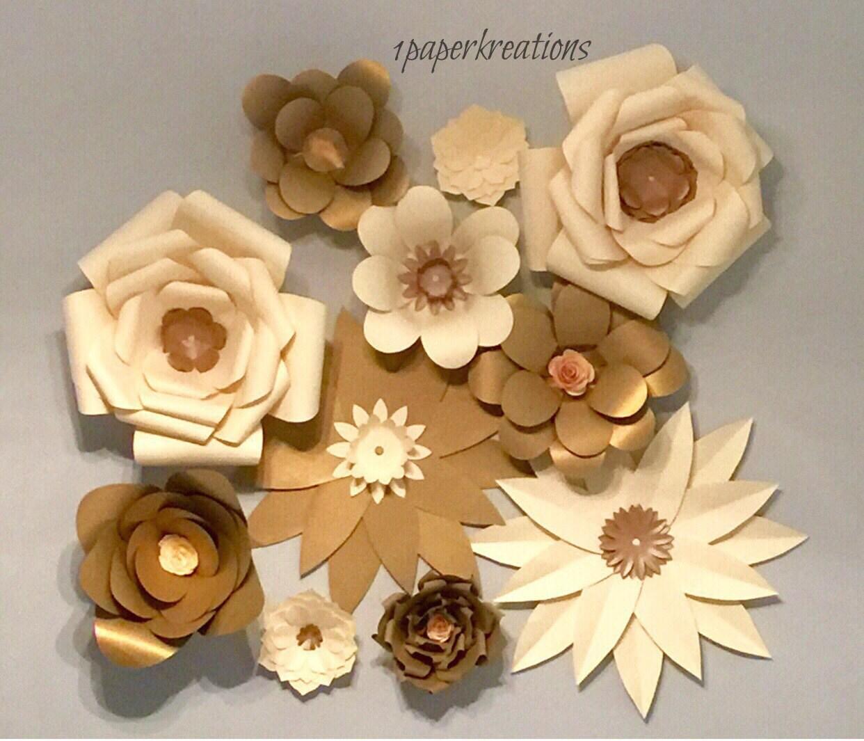LARGE PAPER FLOWERS / wallflowers paper flower wall paper
