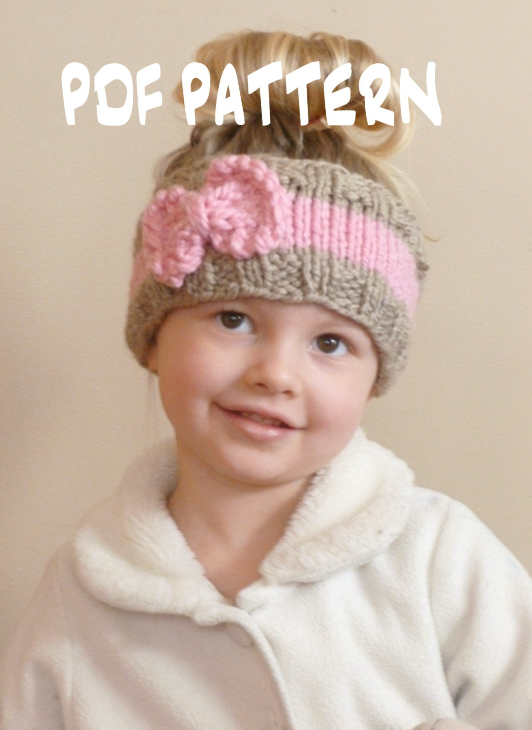 KNITTING PATTERN The Bo Peep Headband, Toddler Knit Ear Warmer ...