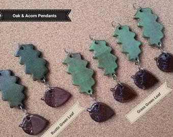 Oak & Acorn Pendants