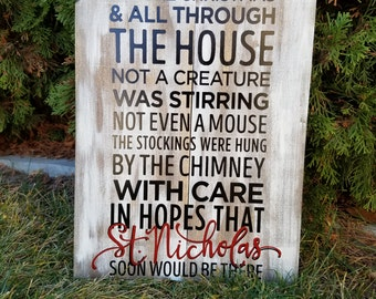 Adorable Christmas Sign, made from reclaimed wood.