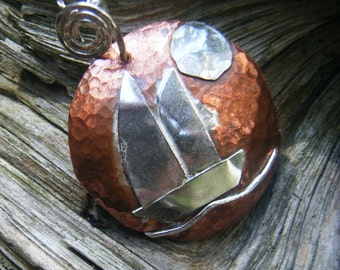 Sterling/Copper Sailboat