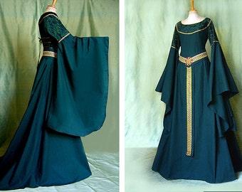 Medieval dress TALRIEL elf dress Larp Eowyn