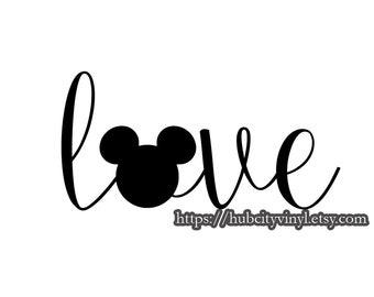Disney Love Mickey Vinyl DIY IRON ON