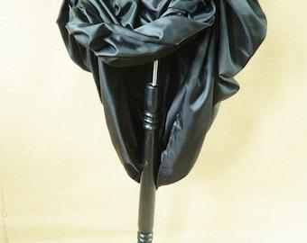 Plain Black Full Length Bustle Skirt, Full Skirt, Victorian Skirt, Steampunk Skirt-One Size Fits All