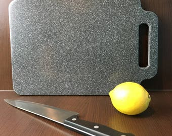 Corian Chopping Board Black With Silver Flecks Small, Kitchenware, Cookware, Cutting Board, Housewarming, Moving In, Gift, Present