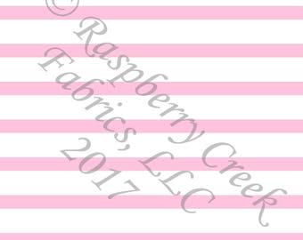Pink and White Stripe 4 Way Stretch Jersey Knit Fabric, Club Fabrics