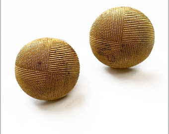 Vintage Gold Toned Domed Clips