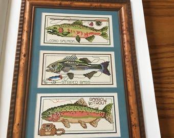 THREE FISH  - Cross Stitch Pattern Only