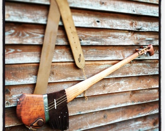 Geronimo - handcrafted electric slide guitar by DaShtick. Celtic diddley bow. Cbg