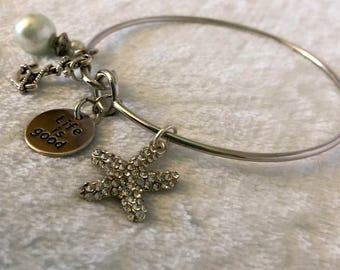 Charm • Charm Bracelet • Yoga Bracelet • Ocean • Starfish • Jewelry • Gifts