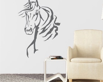 Horse Vinyl Wall Decals, Horse Wall Decal, Farm Animal Wall Decal,  Removable Horse
