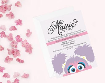 Abby Cadabby Invitation | Abby Cadabby Invite | Sesame Street Invitation | Abby Cadabby Birthday Party | Sesame Street Birthday Party