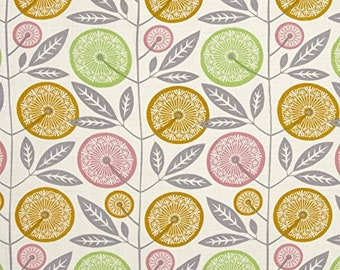 RAYON -- Fabric by the Yard --  Cali Mod Floral Stock in Cactus by Joel Dewberry