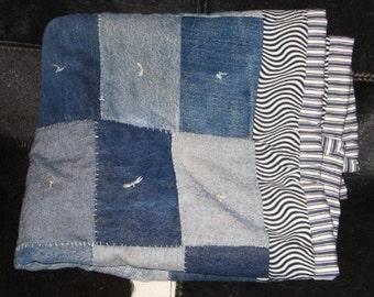 small boro denim quilt