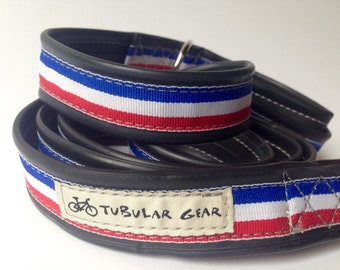 Red, White, and Blue Stripe Pattern Leash