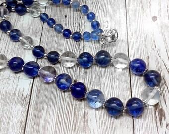 Semi-precious Blueberry Quartz Necklace