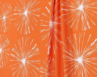 "Premier Prints Fabric Sparks Monarch Orange Home Decorator 54"" Wide Fabric 7 oz 100% Fireworks Cotton Fabric by the Yard"