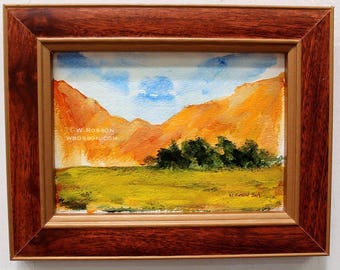 Original Painting, Lanscape Painting, Rescued Frame, Original Art, Winjimir, Home Decor, Office Decor, Design, Recycled, Wall Art, Gift,