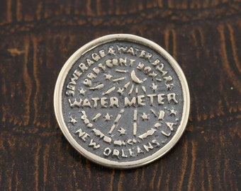 New Orleans, Water Meter, Pendant, Charm, Sterling Silver, Louisiana, Must Have, 925, Made In New Orleans