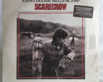 John Cougar Mellencamp / Scarecrow - Gray Marble Vinyl - LP Record Album Limited Edition Numbered #340 - Mercury B002393801 - NEW and SEALED