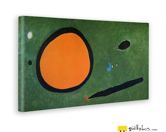 Abstract paintings-Joan Mirò-The Flight of the Bird by Moonlight-Yellow BUS