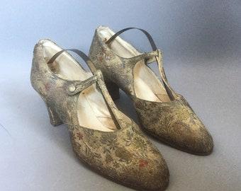 1920s shoes / 1920s evening shoes