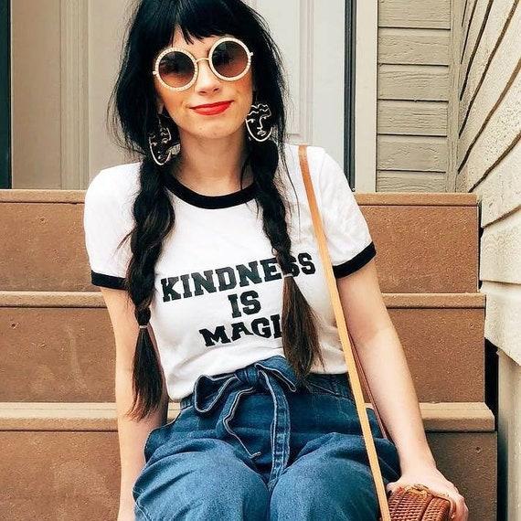 KINDNESS IS MAGIC Ringer Tee, Kindness Tee, Kindness Is Magic Tshirt, Kind Tee, Be Kind, Kindness, Kindness is Magic Tshirts, Kindness Tee