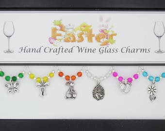 Easter Set of Wine Glass Charms