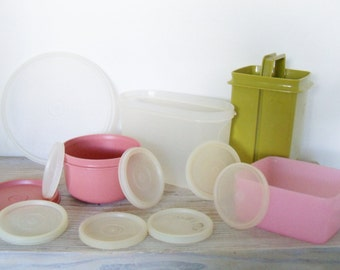 Vintage Tupperware Replacement Parts - Bowls - Lids - Storage Containers 1970s