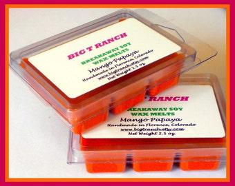 Mango Papaya - Breakaway Melts - Tarts - Highly Scented - Free U.S. Shipping