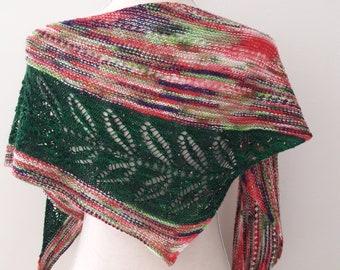 Hand Knit Leafy Shawl