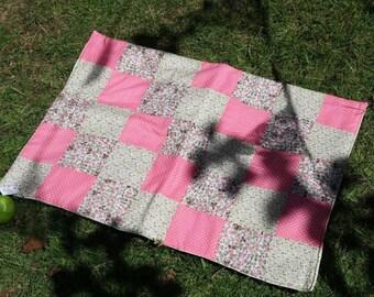 Patchwork mini blanket/rug