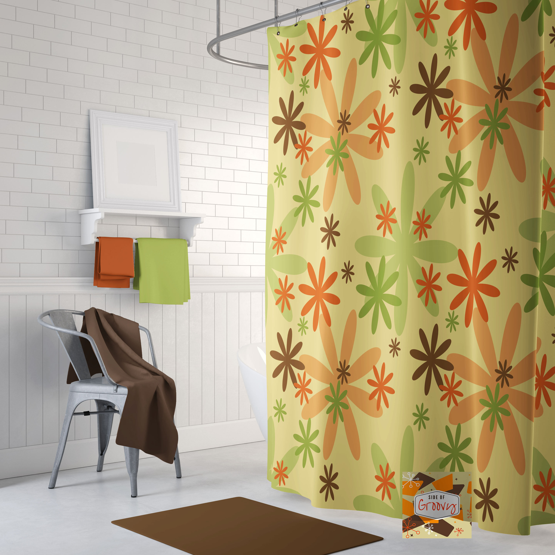 Retro Shower curtain 70s shower curtain cool shower