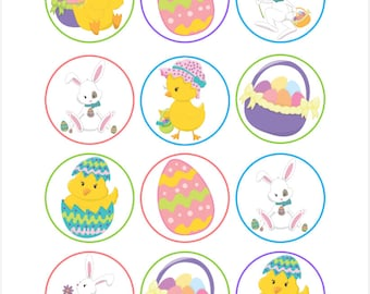 Edible Easter Friends Cupcake Cookie Toppers