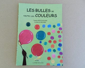"""Book, """"Bubbles of all colors"""", African book for children from 6 months"""