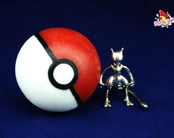 Geeky Proposal Gift, Pokemon Wedding, Pokeball Soap with Silver MewTwo, proposal geeky gift, wedding pokeball, wedding pokemon